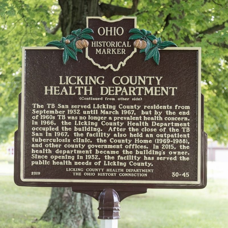Licking County Health Department side of marker image. Click for full size.