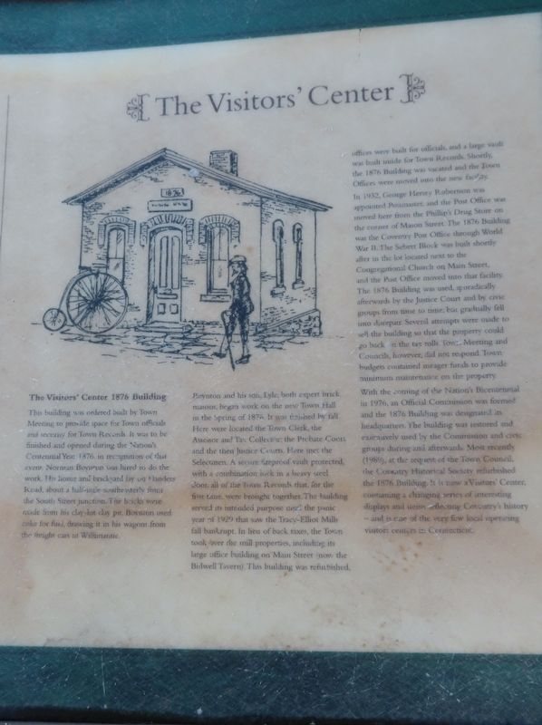 The Visitor's Center Marker image. Click for full size.