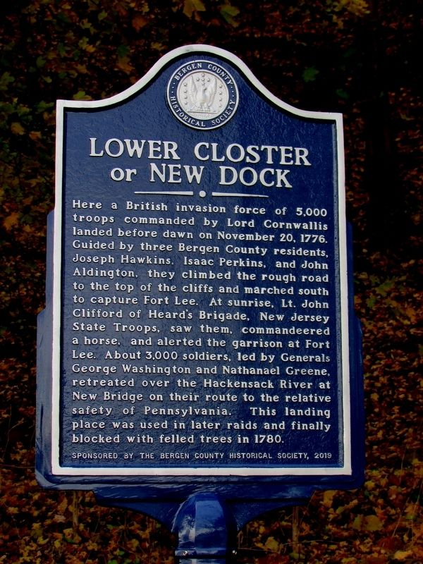 Lower Closter or New Dock Marker (East Side of Marker) image. Click for full size.