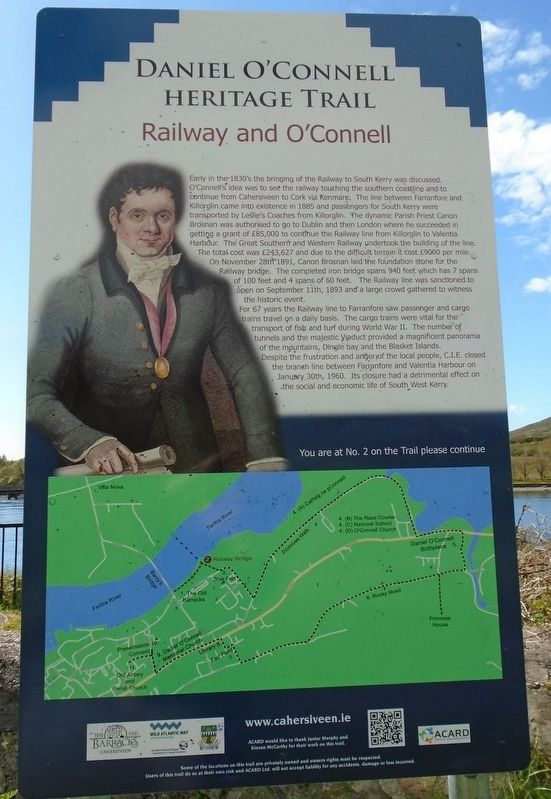 Railway and O'Connell Marker image. Click for full size.