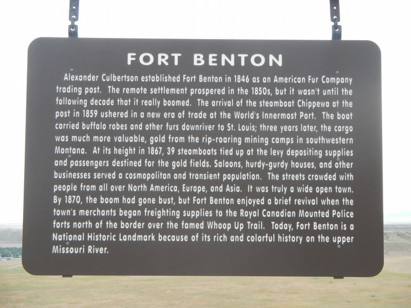 Fort Benton Marker image. Click for full size.