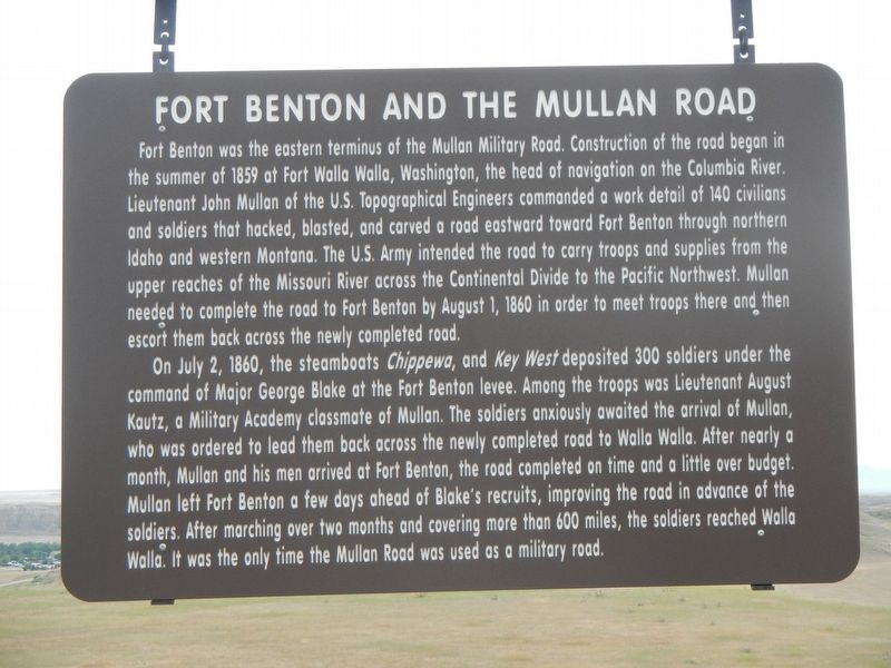 Fort Benton and the Mullan Road Marker image. Click for full size.