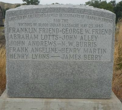 Victims of Blood Indians Massacre Marker image. Click for full size.