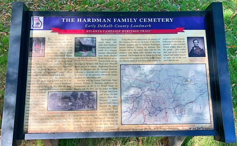 The Hardman Family Cemetery Marker image. Click for full size.