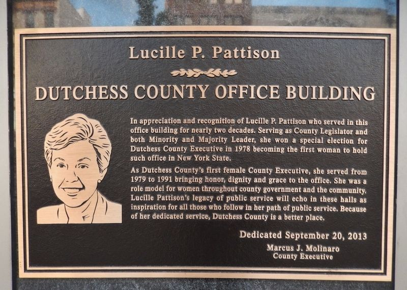 Lucille P. Pattison Marker image. Click for full size.