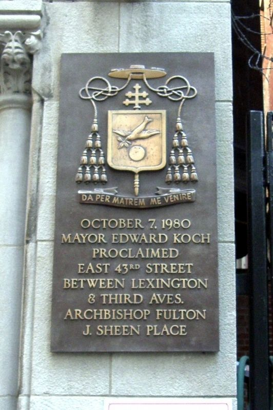 Archbishop Fulton J. Sheen Place Marker image. Click for full size.