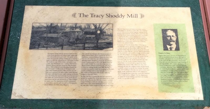 The Tracy Shoddy Mill Marker image. Click for full size.