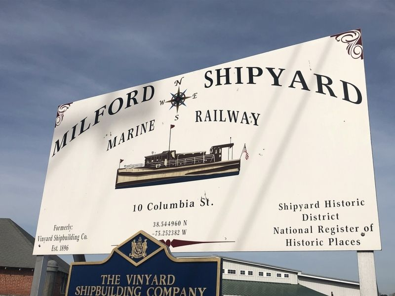 The Vinyard Shipbuilding Company Marker image. Click for full size.
