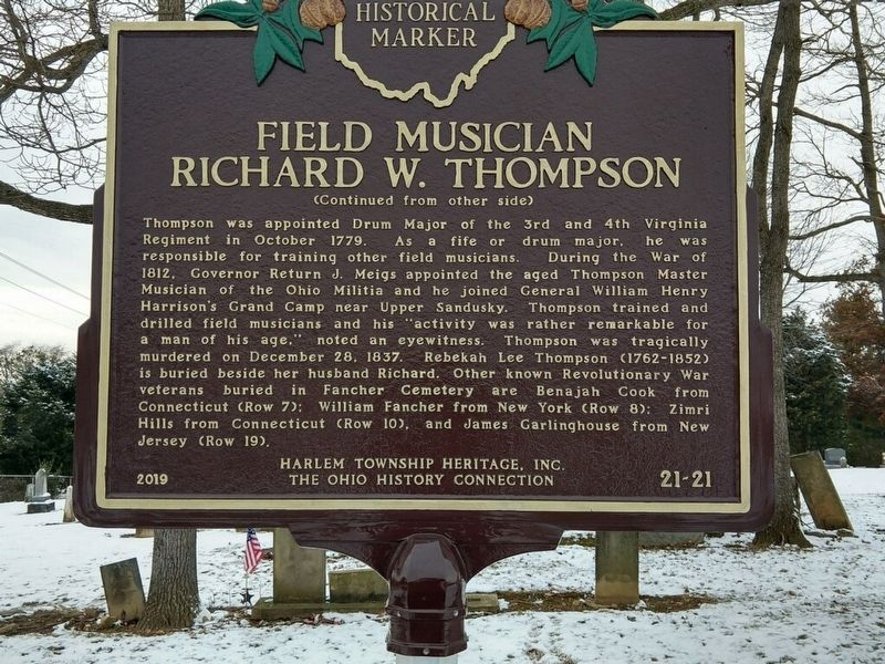 Field Musician Richard W. Thompson Marker image. Click for full size.
