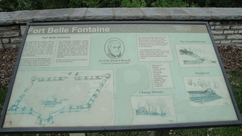 Fort Belle Fontaine Marker image. Click for full size.