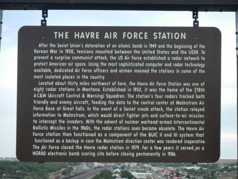 Havre Air Force Station Marker image. Click for full size.
