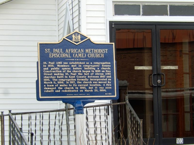 St. Paul African Methodist Episcopal (AME) Church Marker image. Click for full size.