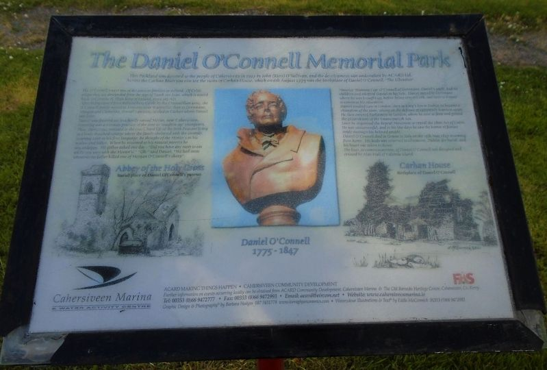 The Daniel O'Connell Memorial Park Marker image. Click for full size.