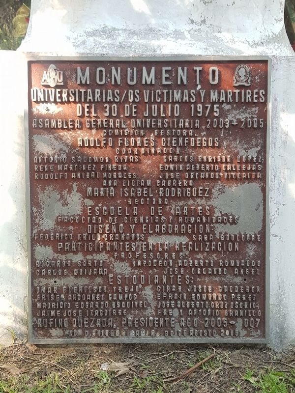 Monument to the University's Victims and Martyrs Marker image. Click for full size.