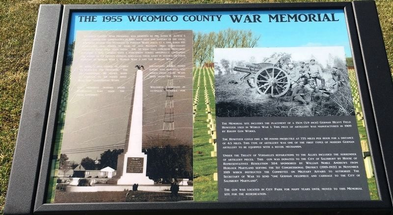 The 1955 Wicomico County War Memorial image. Click for full size.