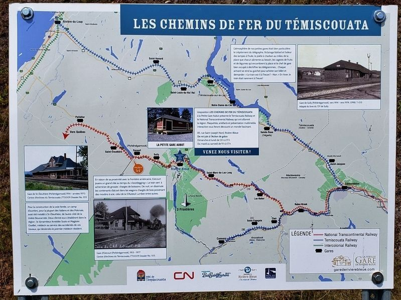 Les Chemins de Fer Du Témiscouata /<br>The Témiscouata Railways Marker image. Click for full size.