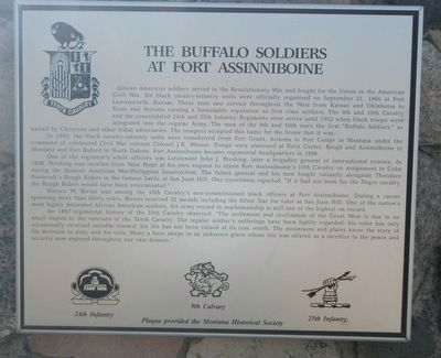 The Buffalo Soldiers at Fort Assinniboine Marker image. Click for full size.