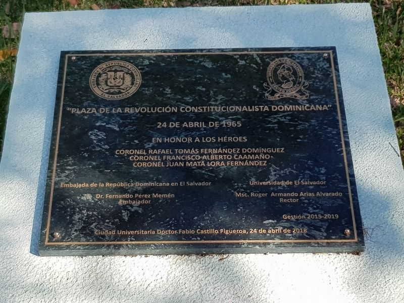 Dominican Constitutionalist Revolution Square Marker image. Click for full size.