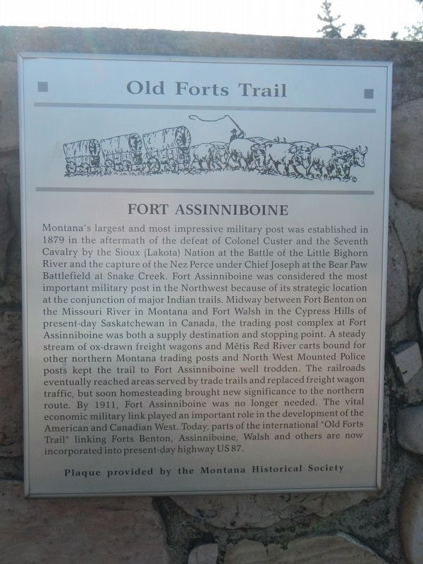 Fort Assinniboine Marker image. Click for full size.