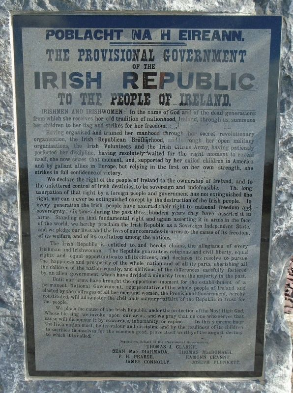 Proclamation of the Irish Republic Marker image. Click for full size.