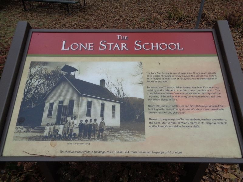 The Lone Star School Marker image. Click for full size.