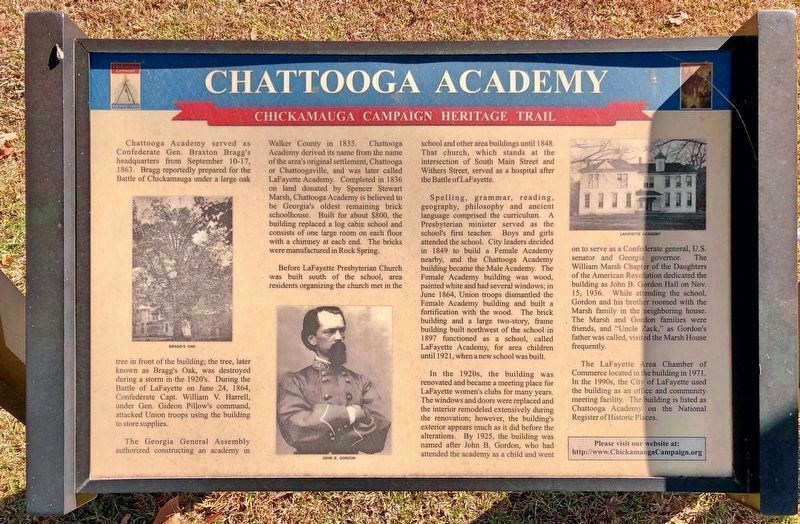 Chattooga Academy Marker image. Click for full size.