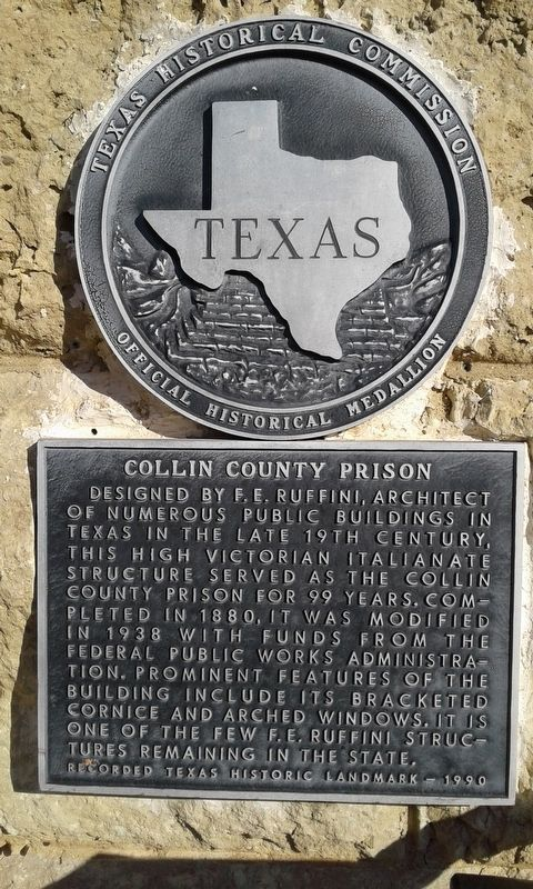 Collin County Prison Marker image. Click for full size.