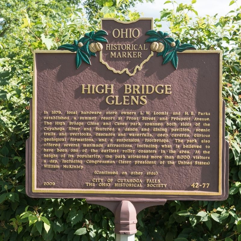 High Bridge Glens Marker, side one image. Click for full size.