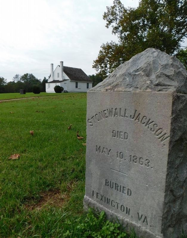 Stonewall Jackson Died Marker image. Click for full size.