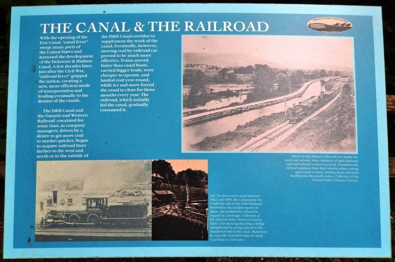 The Canal & the Railroad Marker image. Click for full size.