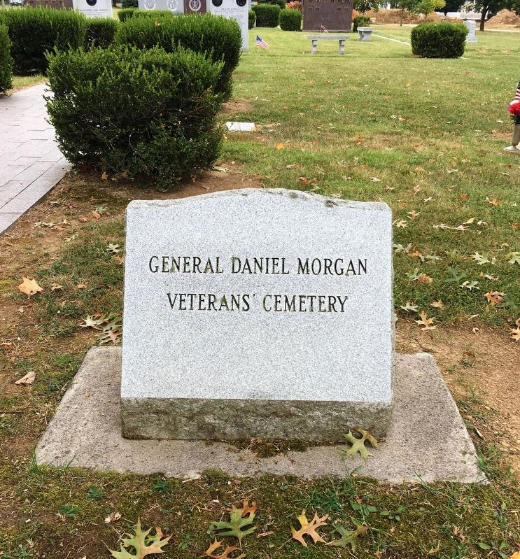 General Daniel Morgan Veterans Cemetery marker image. Click for full size.