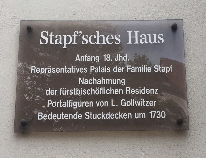 Stapf'sches Haus / Stapf House Marker image. Click for full size.