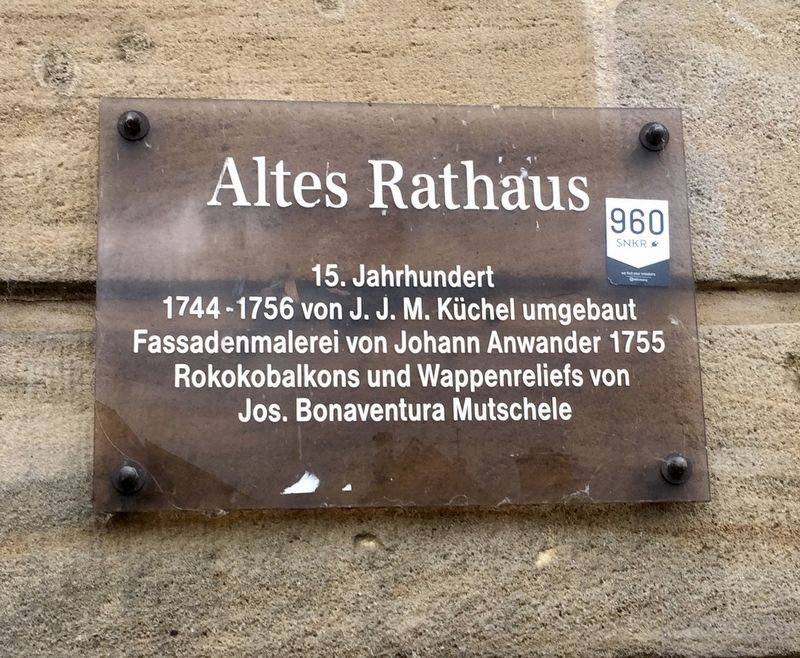 Altes Rathaus / Old City Hall Marker image. Click for full size.