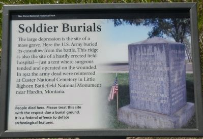 Soldier Burials Marker image. Click for full size.