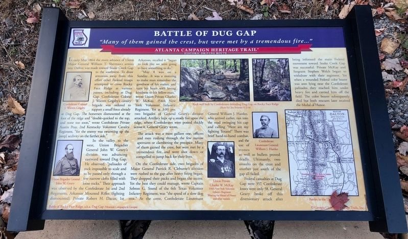 Battle of Dug Gap Marker image. Click for full size.