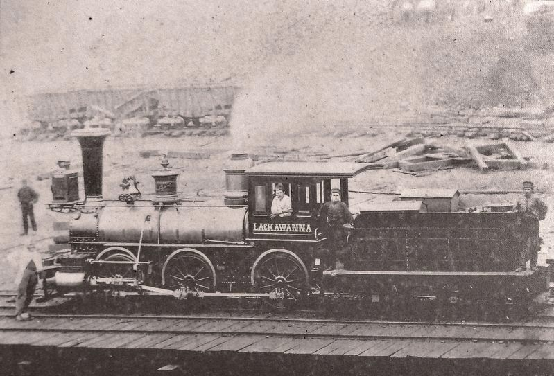 Marker detail: Lackawanna No. 4 image. Click for full size.