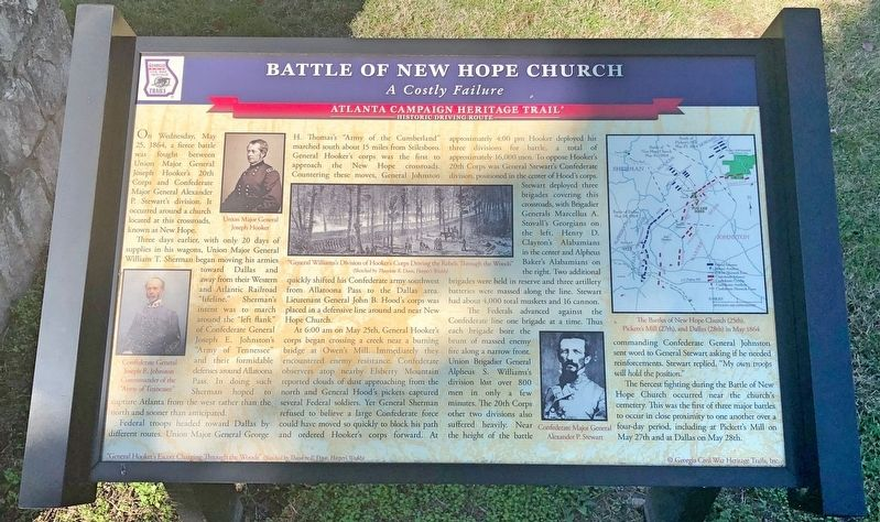 Battle of New Hope Church Marker image. Click for full size.
