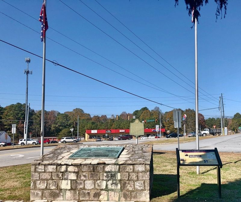 View of marker looking north towards Dallas Acworth Highway. image. Click for full size.