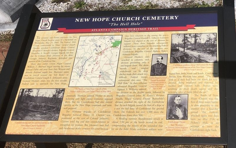 New Hope Church Cemetery Marker image. Click for full size.