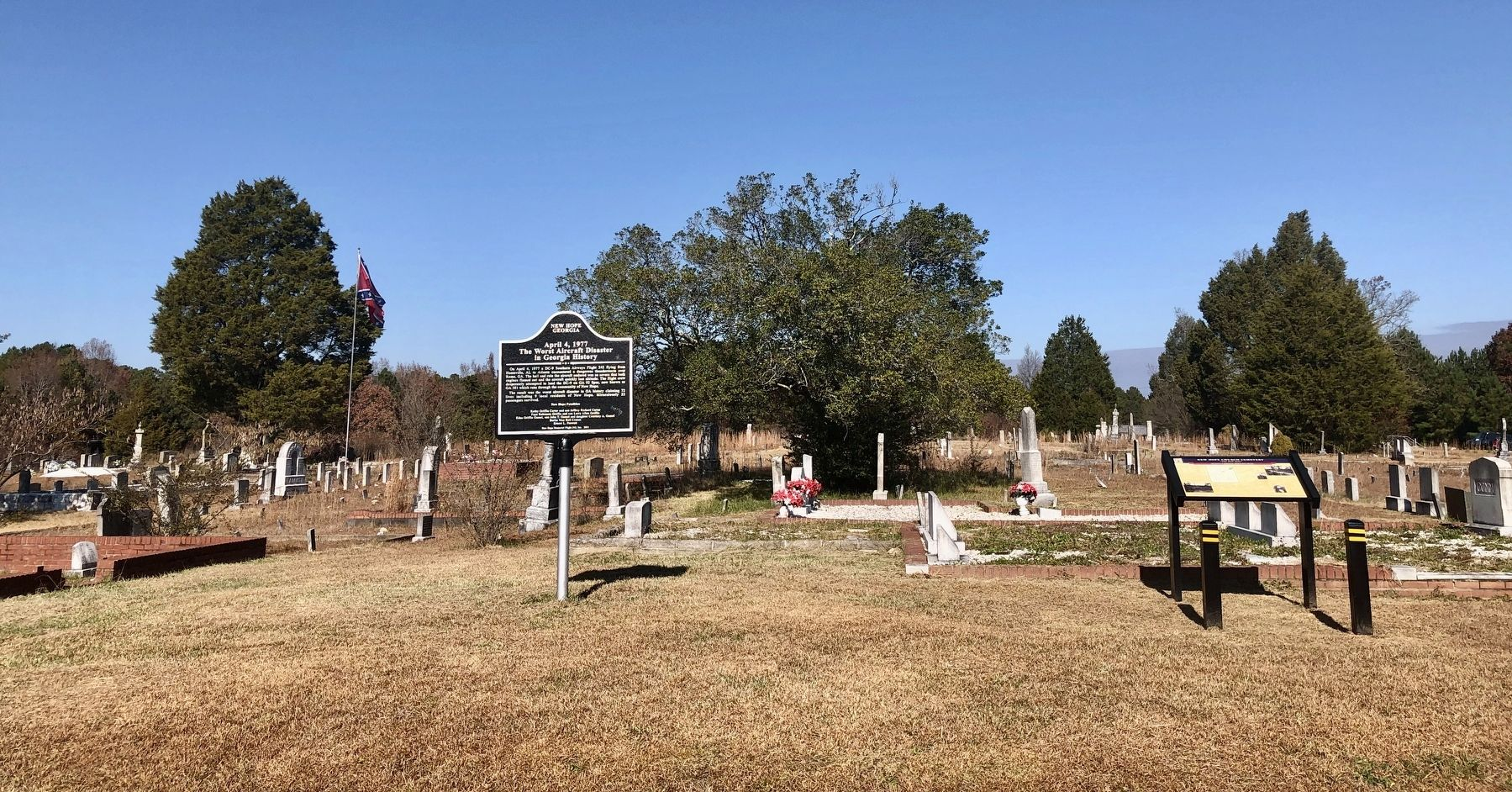 New Hope Church Cemetery and Marker image. Click for full size.