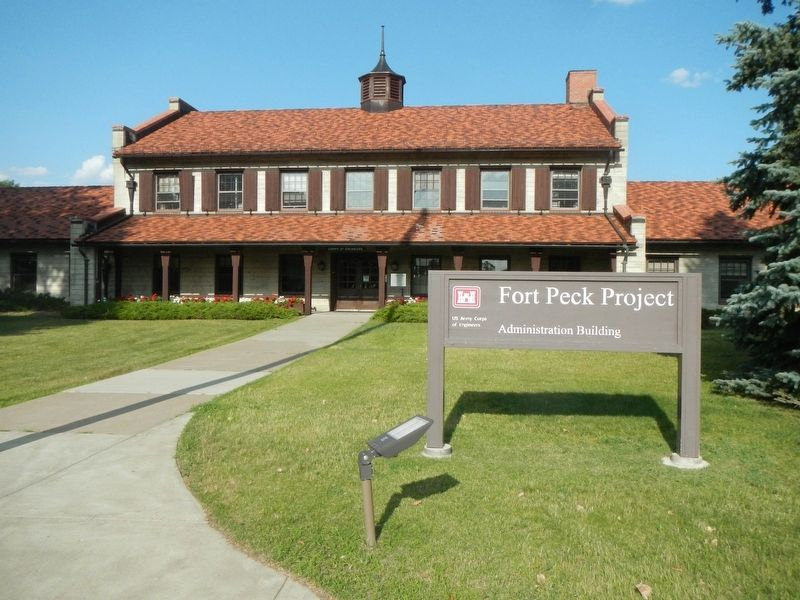 Fort Peck Administration Building image. Click for full size.