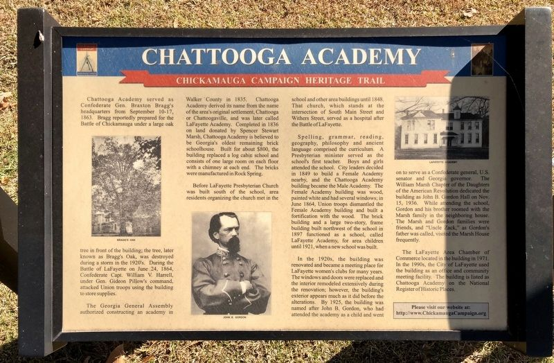 Another Chattooga Academy marker to left of this marker. image. Click for full size.