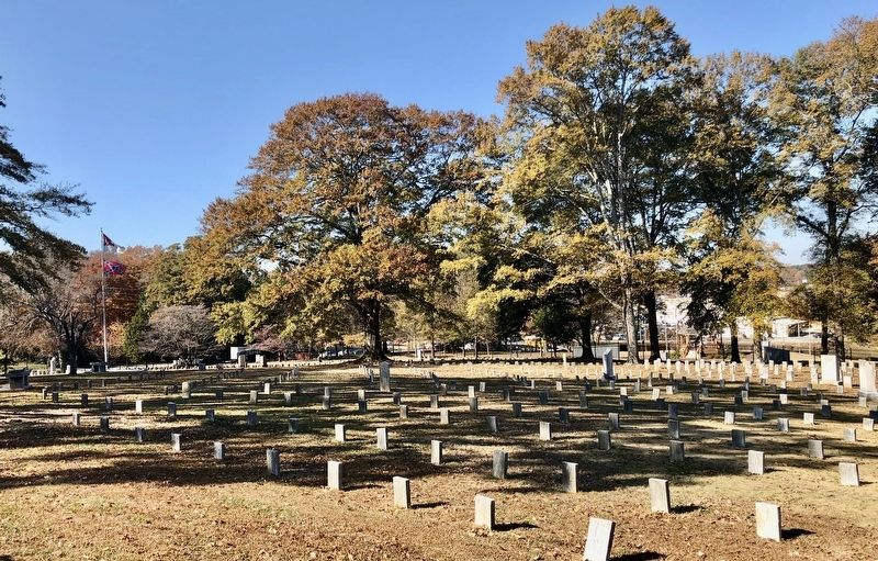 View of the Confederate Cemetery and some State monuments. image. Click for full size.
