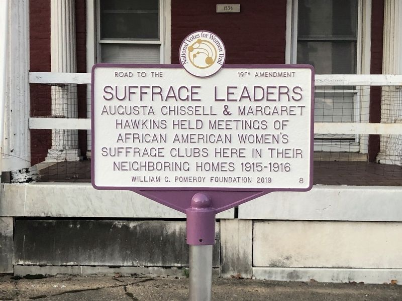 Suffrage Leaders Marker image. Click for full size.