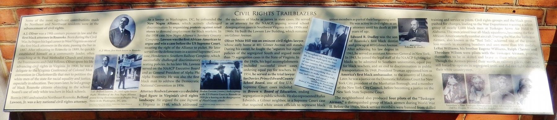 Civil Rights Trailblazers Marker image. Click for full size.