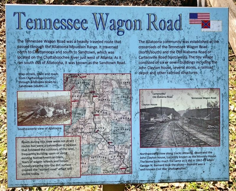 Tennessee Wagon Road Marker image. Click for full size.