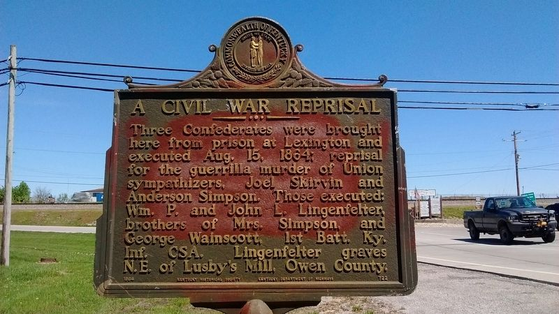 A Civil War Reprisal Marker image. Click for full size.