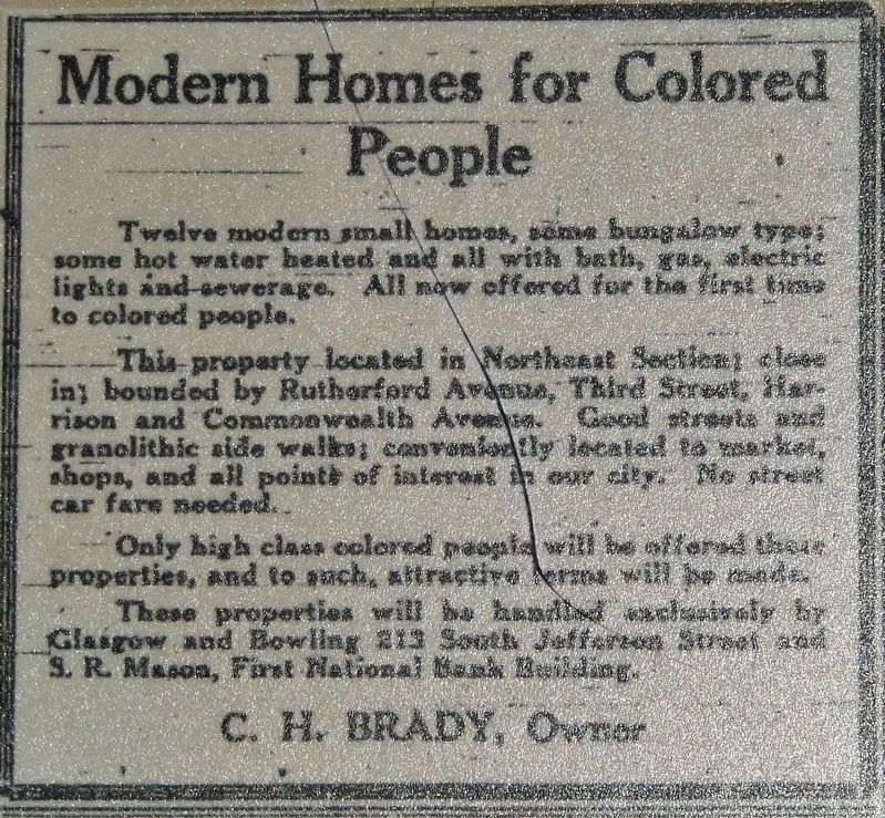 Marker detail: Housing Advertisement image. Click for full size.
