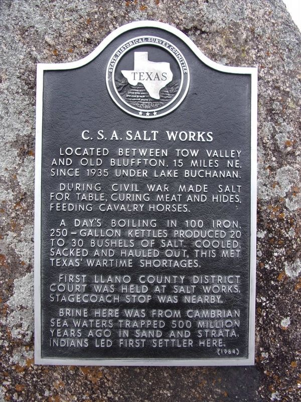 C.S.A. Salt Works Marker image. Click for full size.