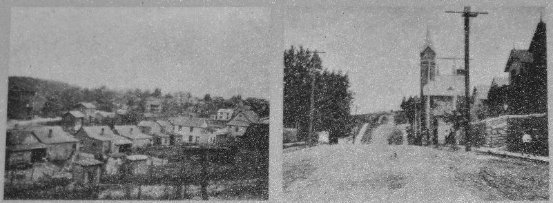 Marker detail: Views of the area from the 1907 City of Roanoke Nolen Plan image. Click for full size.